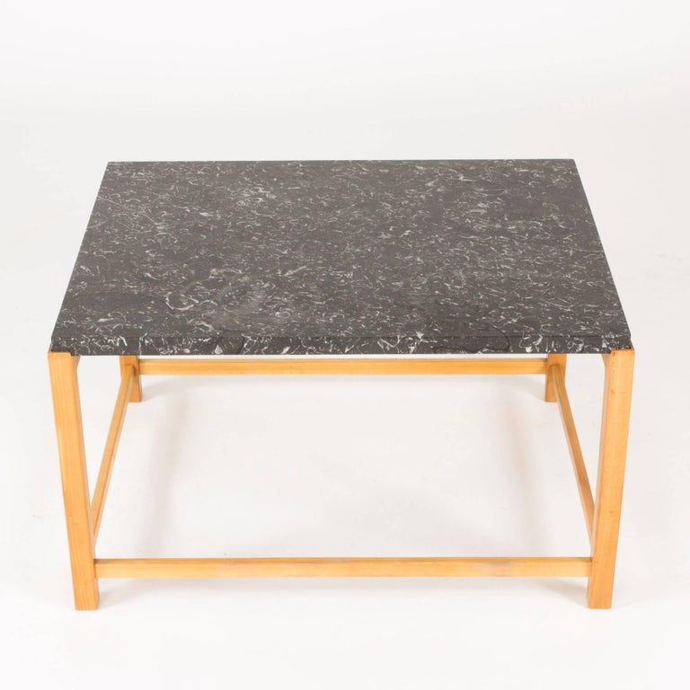 Scandinavian Modern Marble-Top Coffee Table by Carl-Axel Acking