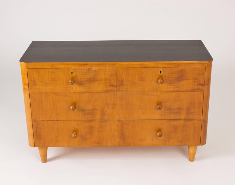 Swedish Elmwood Chest of Drawers by Axel Larsson For Sale
