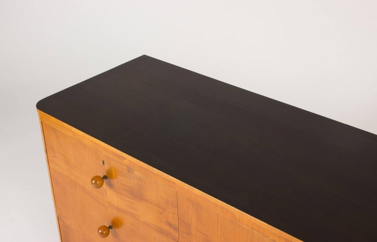 Elmwood Chest of Drawers by Axel Larsson For Sale 1