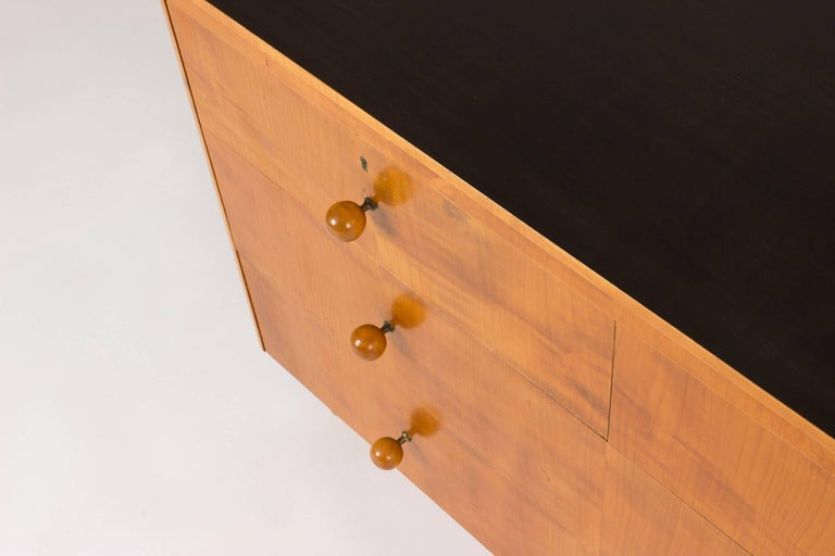 Mid-20th Century Elmwood Chest of Drawers by Axel Larsson For Sale