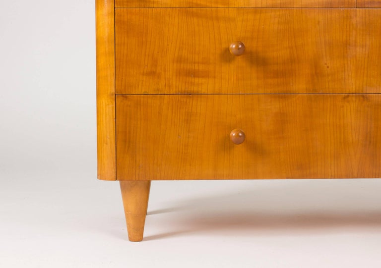 Elmwood Chest of Drawers by Axel Larsson In Excellent Condition For Sale In Stockholm, SE