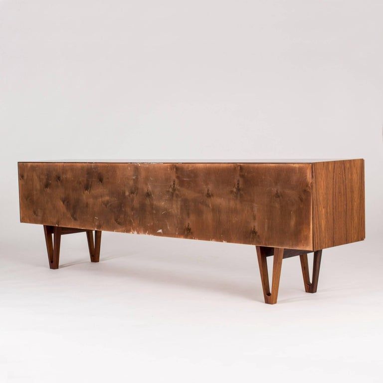 Rosewood sideboard by Ib Kofod Larsen In Excellent Condition For Sale In Stockholm, SE