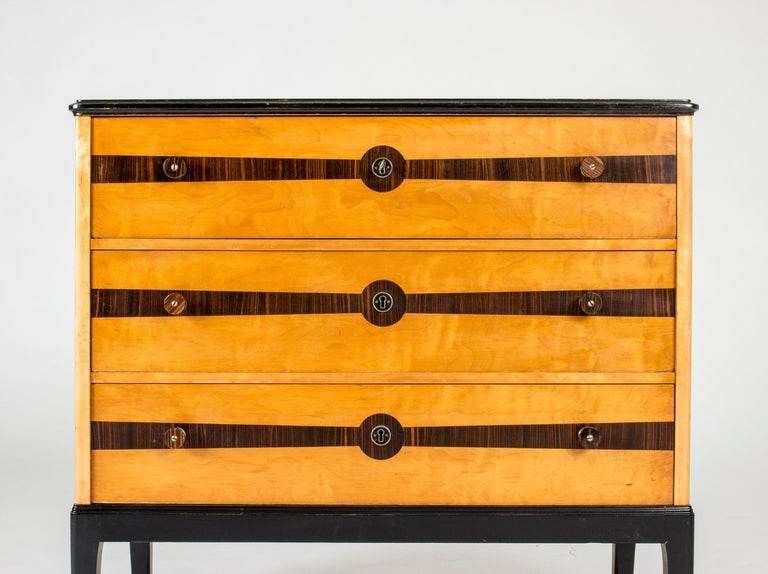 Midcentury Chest of Drawers by Erik Chambert In Excellent Condition For Sale In Stockholm, SE