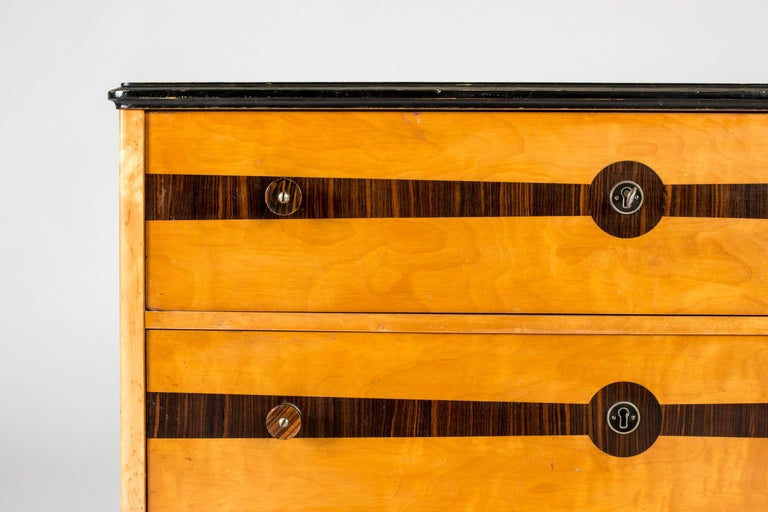 Birch Midcentury Chest of Drawers by Erik Chambert For Sale