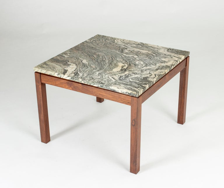 Scandinavian Modern Mid-Century Modern Danish Marble Table For Sale