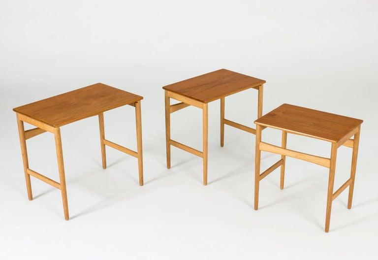 Danish Set of Midcentury Nesting Tables by Hans J. Wegner For Sale