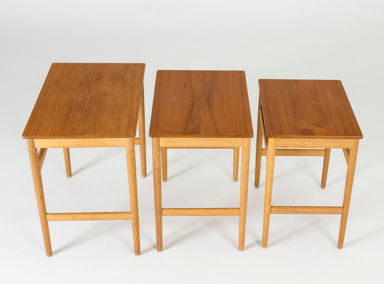 Set of Midcentury Nesting Tables by Hans J. Wegner In Good Condition For Sale In Stockholm, SE