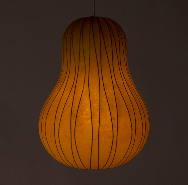 Swedish Midcentury Resin Cocoon Lamp by Hans Bergström For Sale