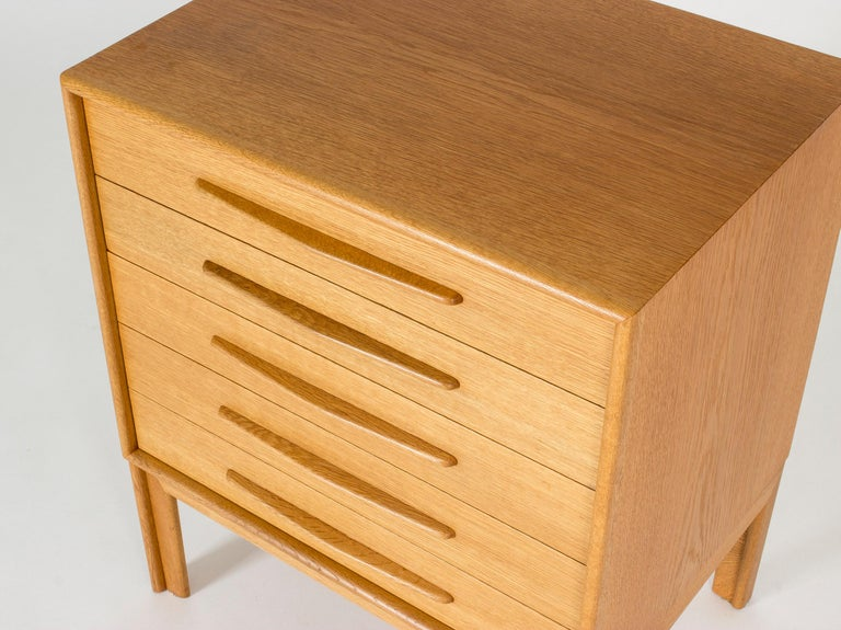 Midcentury Oak Chest of Drawers by Alf Svensson For Sale 1