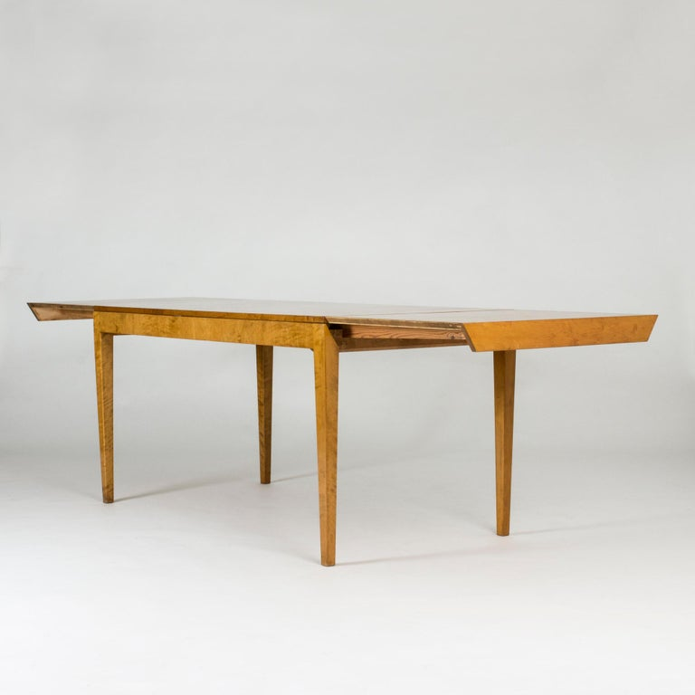 Scandinavian Modern 1930s Beech Dining Table by Axel Larsson For Sale