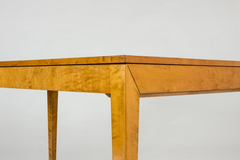 1930s Beech Dining Table by Axel Larsson For Sale 1