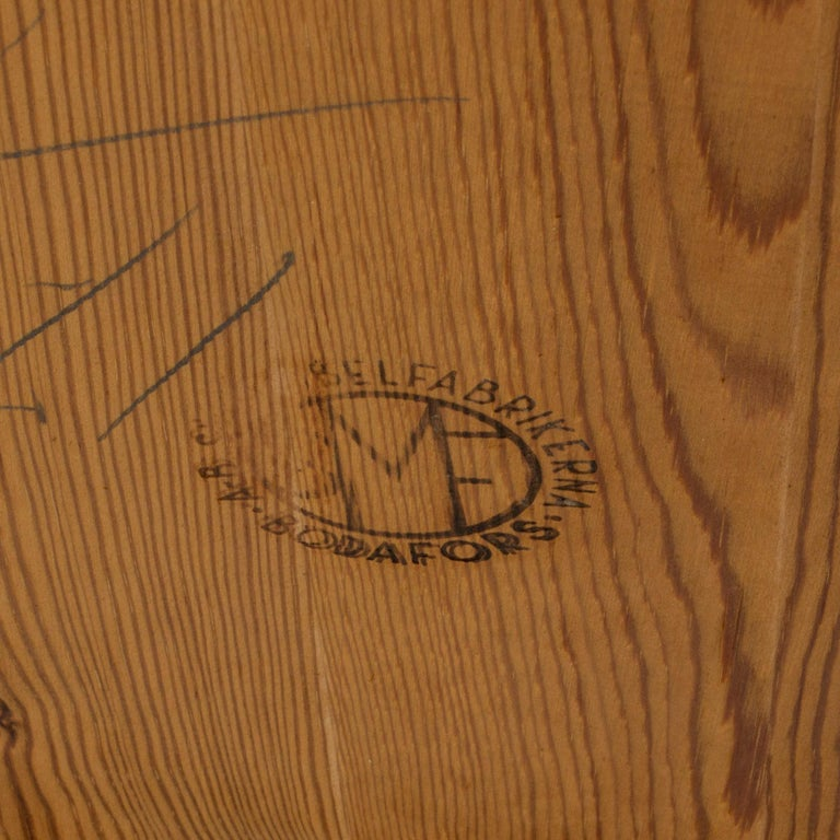 1930s Beech Dining Table by Axel Larsson For Sale 3