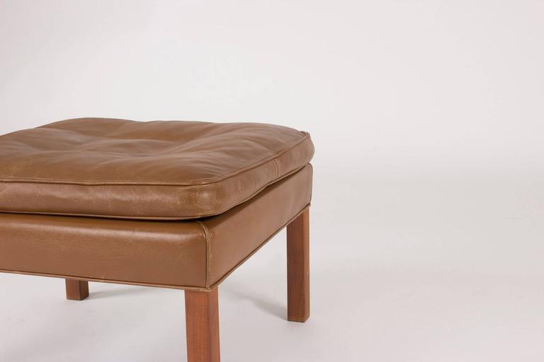Leather Ottoman by Børge Mogensen 4