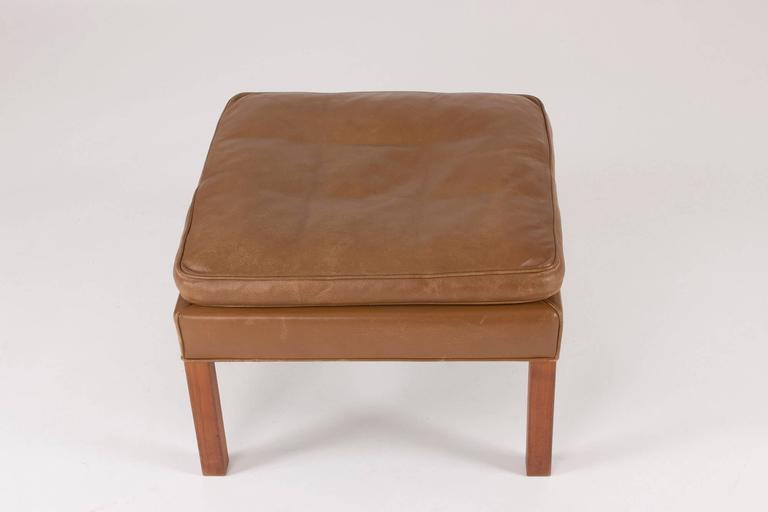 Leather Ottoman by Børge Mogensen 3