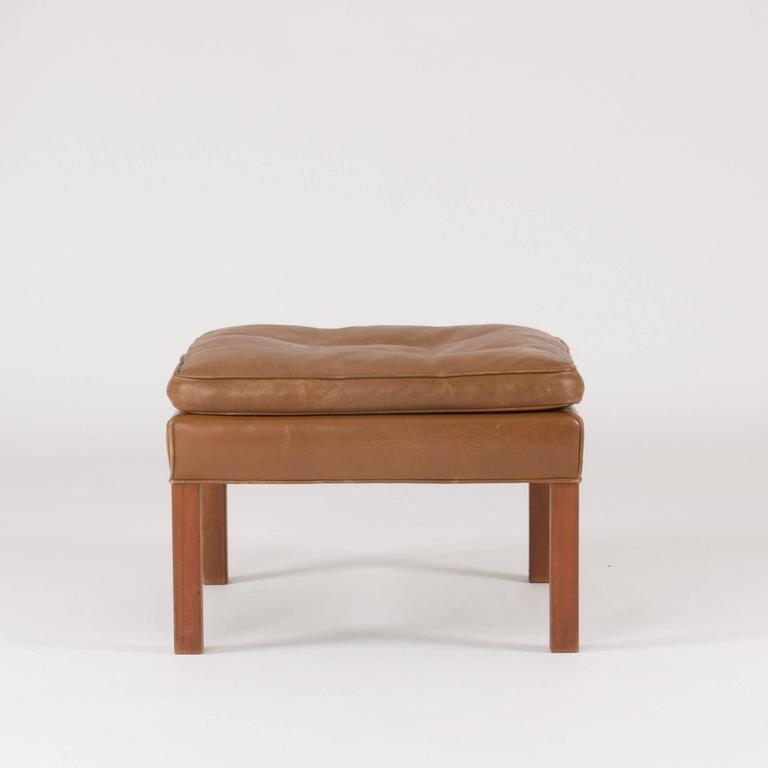 Leather Ottoman by Børge Mogensen 2
