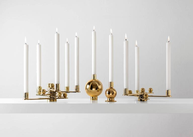 Spanish Candleholder in Polished Varnished Brass Limited Edition of 75 by BD Barcelona For Sale