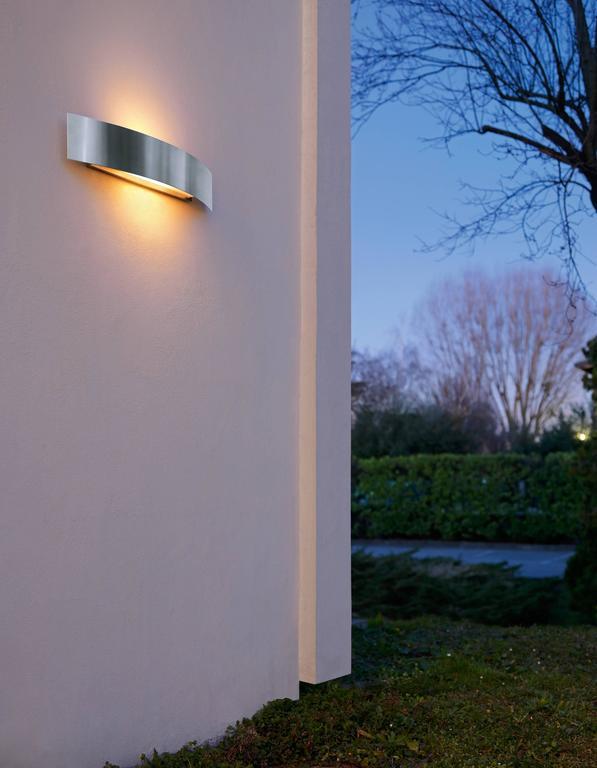 Paolo zani fontana arte riga outdoor wall lamp in aluminum for Fontana arte riga