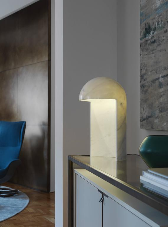 Milano 2015 Marble Table Lamp Designed by Carlo Colombo for Fontana Arte In New Condition For Sale In New York, NY