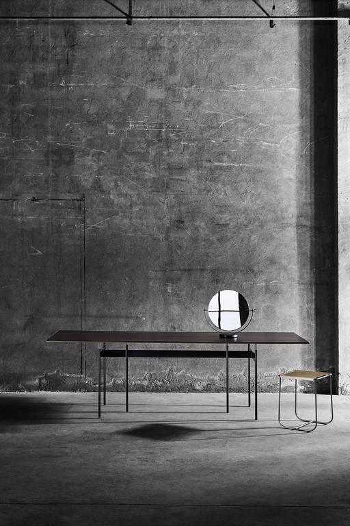 Italian Tartan Metal Table Designed by Simone Bonanni for Mingardo For Sale