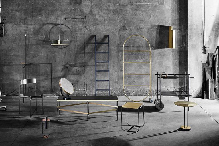 Contemporary Tartan Metal Table Designed by Simone Bonanni for Mingardo For Sale