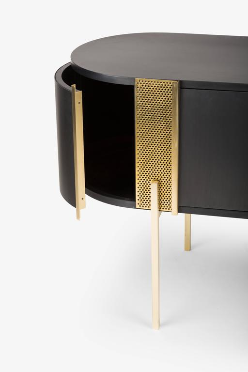 Contemporary Believe Metal Sideboard by Lorenza Bozzoli for Mingardo For Sale