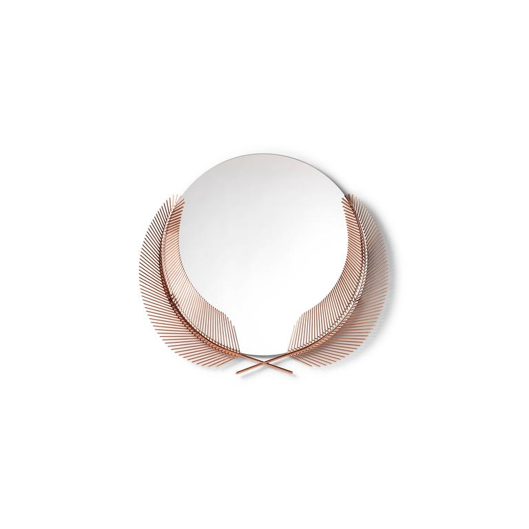 Sunset rose gold mirror designed by Nika Zupanc for Ghidini 1961.