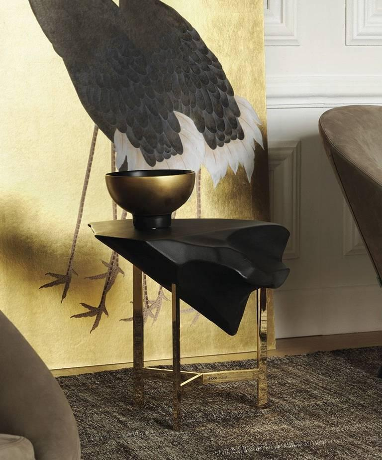 Basalt Glossy Concrete Top Coffee Table By Fredrikson Stallard For