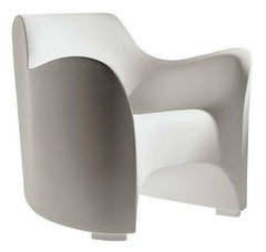 """Tokyo-Pop"" White or Black Monobloc Armchair Designed by T. Yoshioka for Driade"