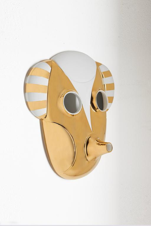 Contemporary MASKHAYON Jaime Hayon wall sculpture by Bosa - small size 3 available For Sale