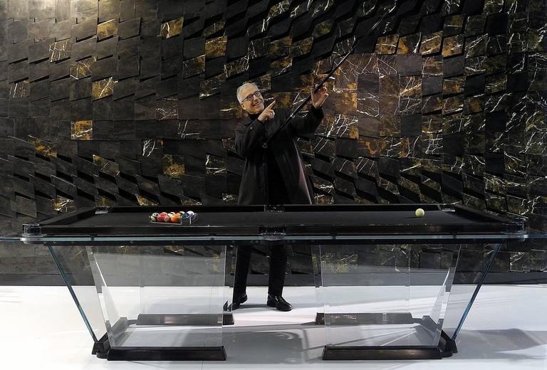 Exceptional T1 Crystal Pool Table Designed By Marc Sadler For Teckell 3