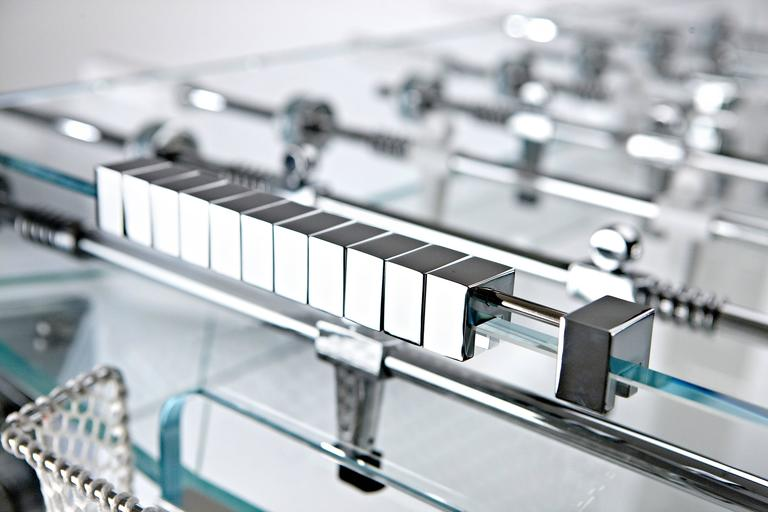 Contropiede Crystal Foosball table by Teckell in White 5