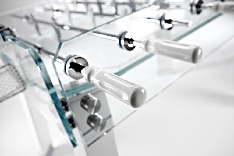 Contropiede Crystal Foosball table by Teckell in White 1