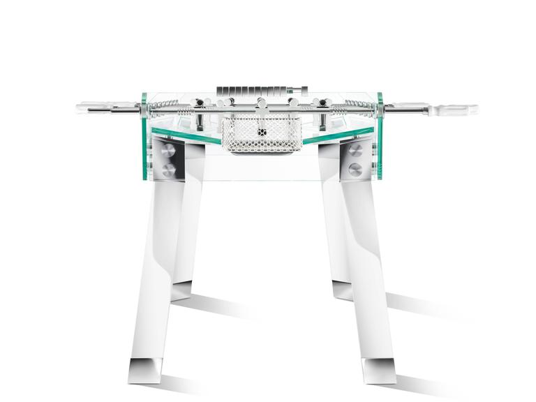 Italian Contropiede Crystal Foosball table by Teckell in White