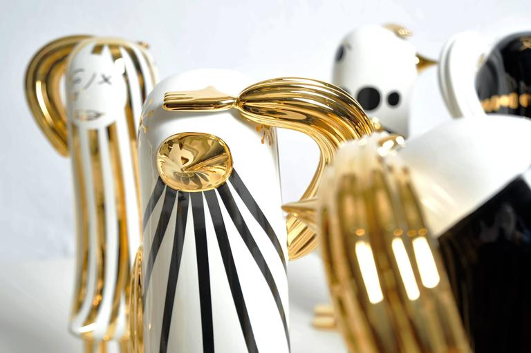 """Hopebird special editions. Design Jaime Hayon.  Sculpture.  """"A tabletop sized sculpture that symbolizes the importance of an optimistic approach to what lies ahead. The 'HopeBird' stands proud and straight with a dynamic watch-out position"""