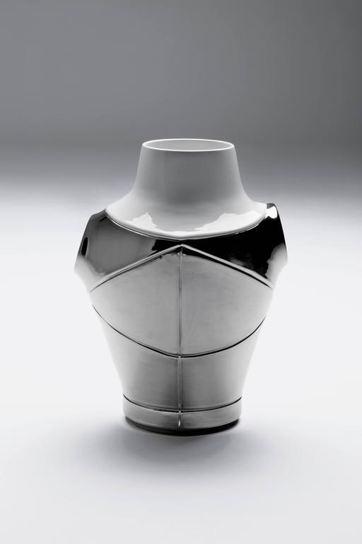 I Cavalieri vases by Jaime Hayon.  Available in copper or platinum. Dimensions: cm 28 x H 40 inches 11.02 x H 5.75.  Bosa, the internationally known Venetian ceramics workshop, has been creating completely handmade objects and pieces of