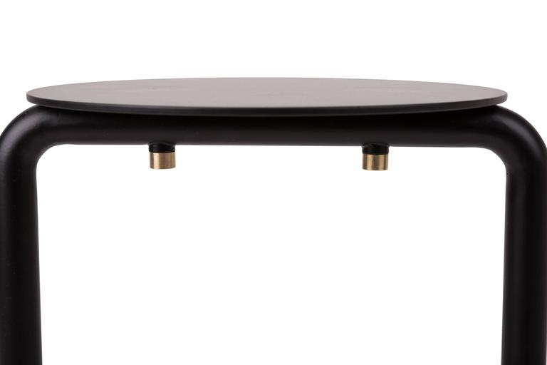 Fabbrica Stool Designed by Omri Revesz and Damian Tatangelo for Mingardo In Excellent Condition For Sale In New York, NY