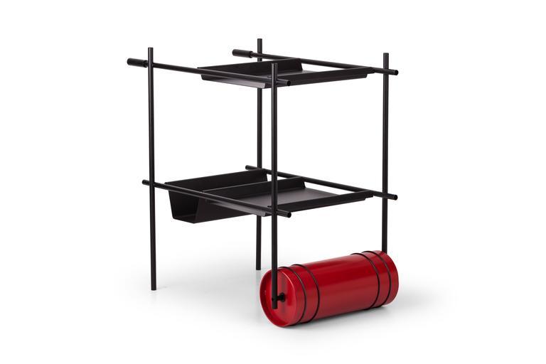 Rolling Dry Bar Designed by Gio Tirotto for Mingardo For Sale 1