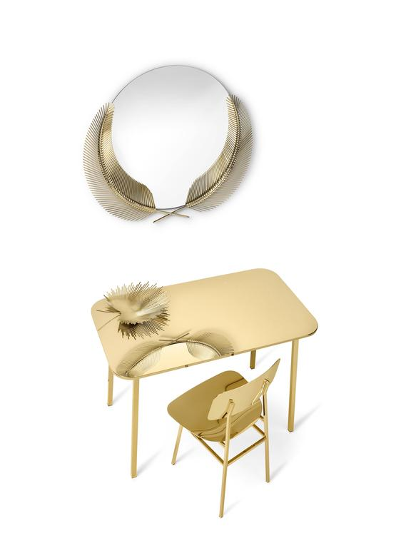 Sunset polished brass mirror designed by Nika Zupanc for Ghidini, 1961 In New Condition For Sale In New York, NY
