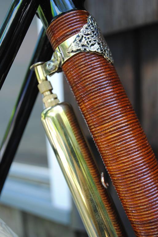Contemporary Rare Ascari Copper Custom Bicycle For Sale