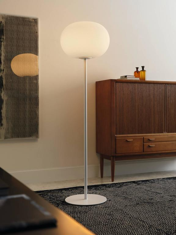 Matti Klenell Fontana Arte Bianca Floor Lamp Blown Glass Designed For Sale Stdibs