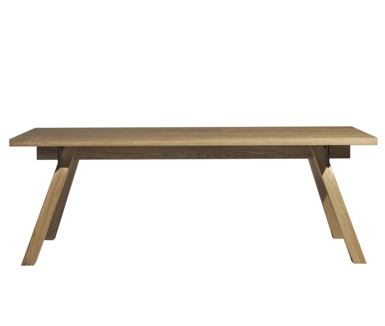 Torquemada table in brushed oak designed by philippe starck for driade 2017 for sale at 1stdibs for Philippe starck tables