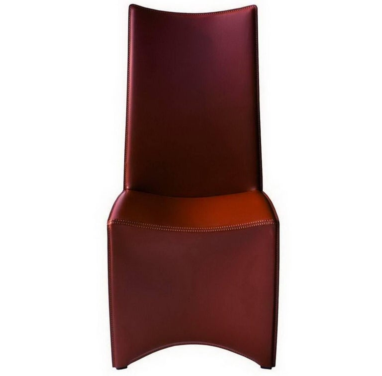 Ed Archer Leather And Polished Aluminum Chair By Philippe Starck