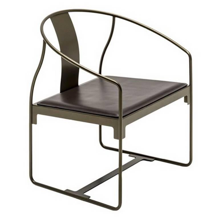 Quot Mingx Quot Leather And Steel Armchair Designed By Konstantin