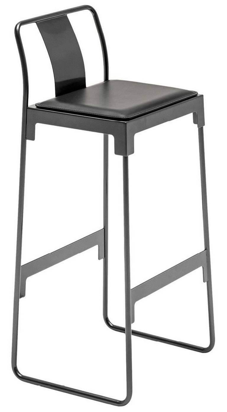 mingx indoor steel high stool with back by konstantin grcic for driade for sale at 1stdibs. Black Bedroom Furniture Sets. Home Design Ideas