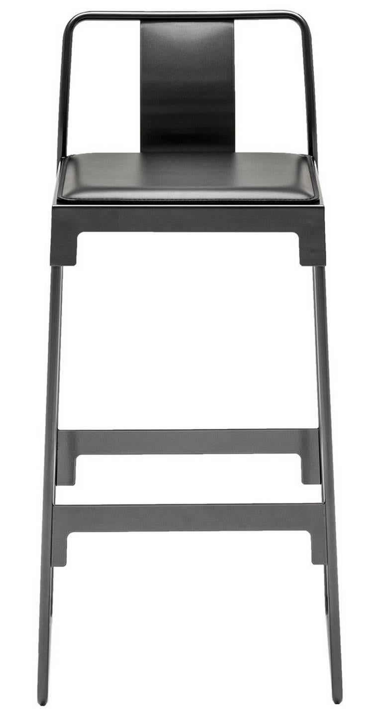 Quot Mingx Quot Indoor Steel High Stool With Back By Konstantin