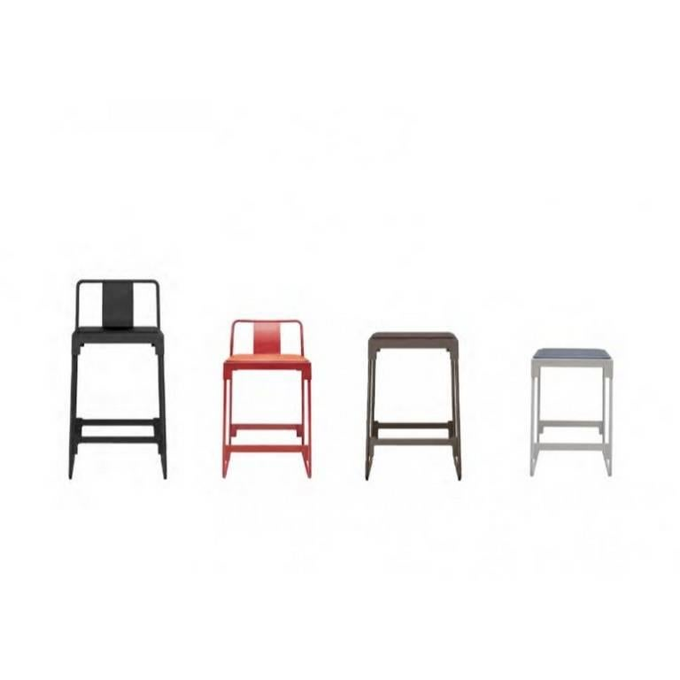 Quot Mingx Quot Indoor Steel Low Stool With Back By Konstantin