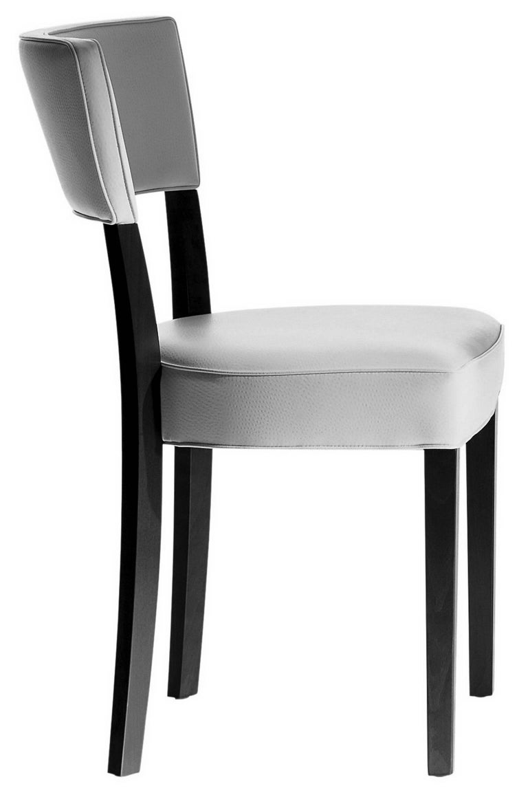 Neoz mahogany dining white chair designed by philippe for Philippe starck chaise