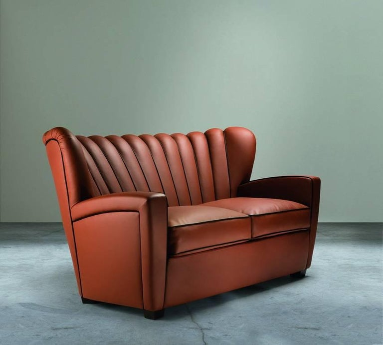 """""""Zarina Divanetto"""" Leather Two-Seat Sofa Designed and Manufactured by Adele-C 2"""