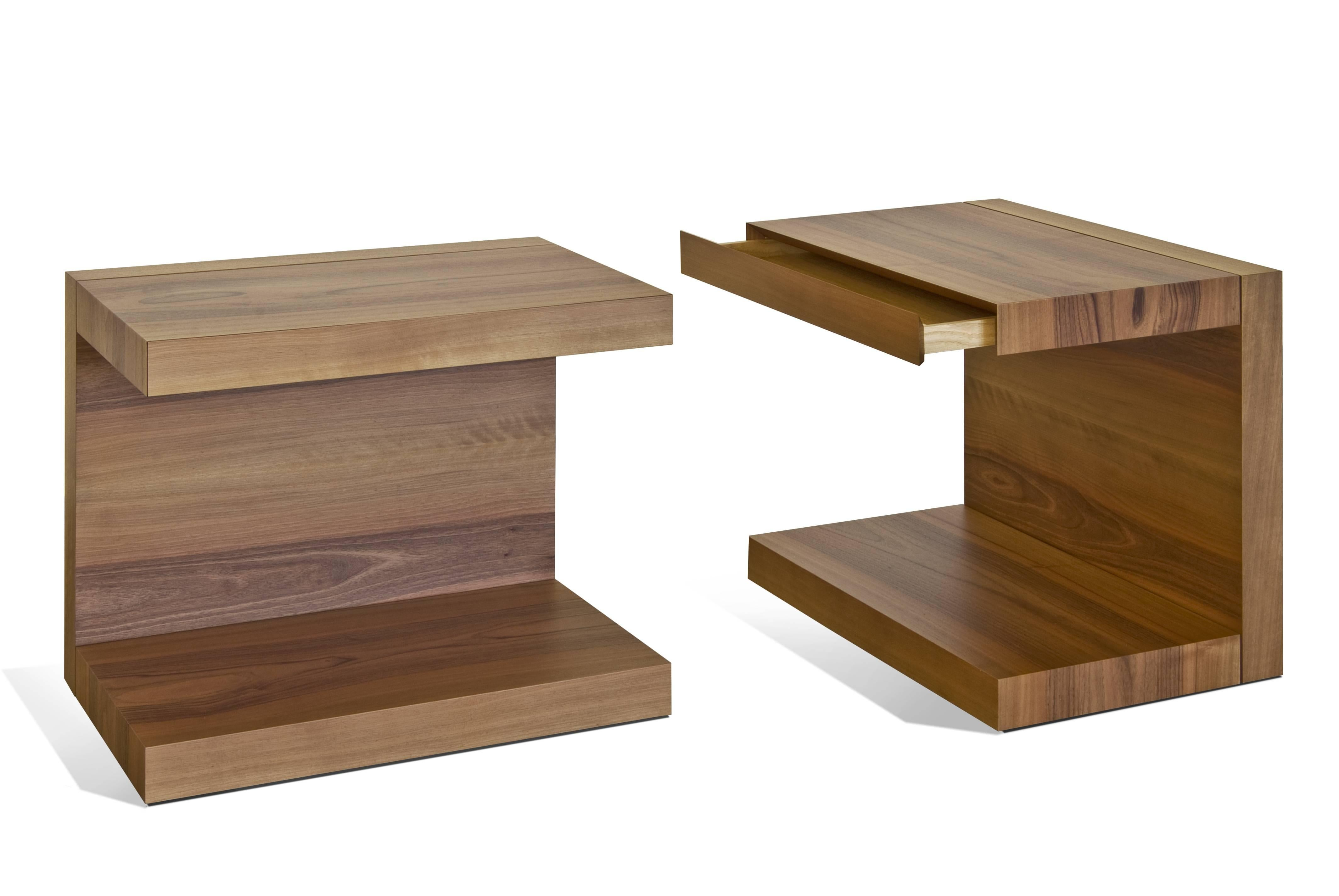 Picture of: Scomodino C Shaped Side Table With Drawer By Dessie Studio For Sale At 1stdibs