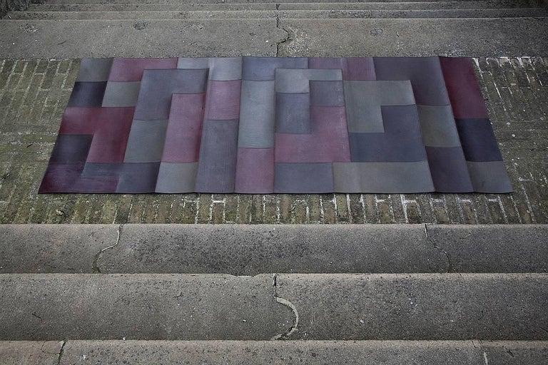 Mathe 39 3 leather carpet designed by nestor perkal for for Built by nester